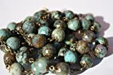 Large-African-Turquoise-and-Bronze-10mm-5-Decade-Natural-Stone-Bead-Rosary-Made-in-Oklahoma