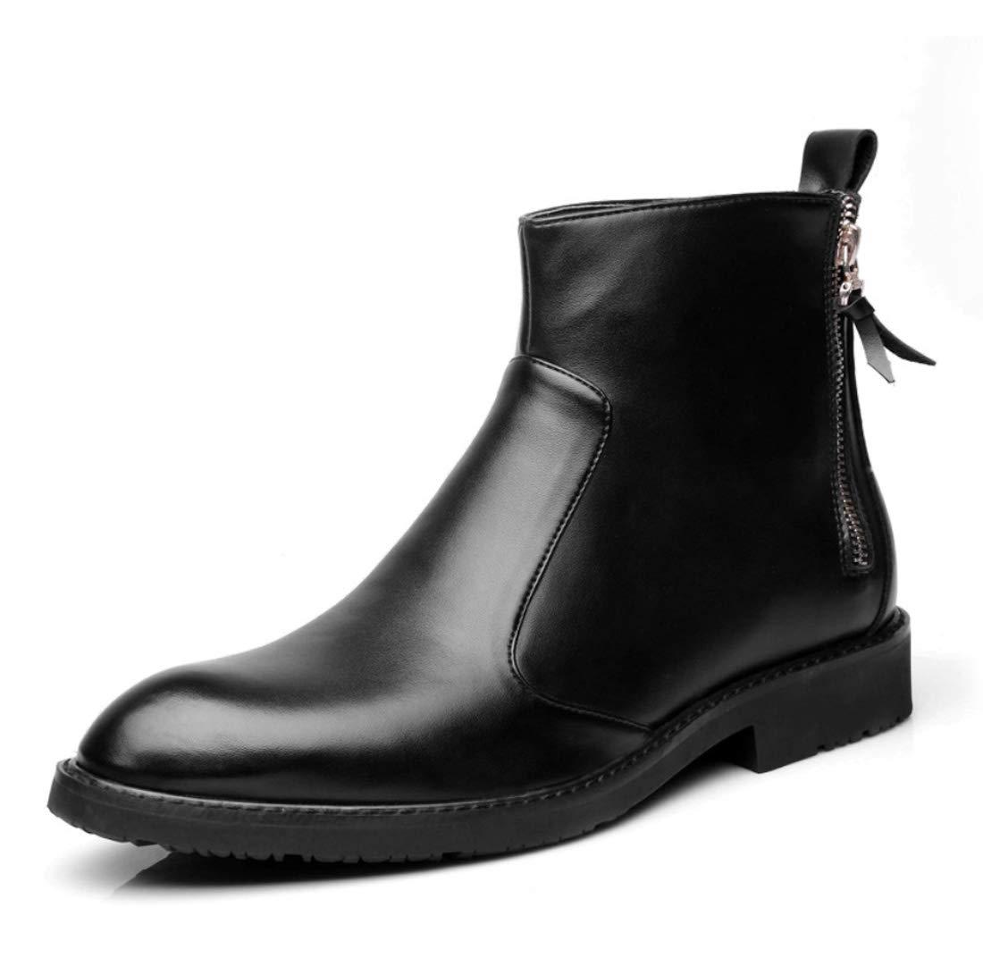 DANDANJIE  Herren Zipper Geschäft Schuhe Arbeit Formale Ankle Stiefel Biker Reiten Stiefelies für 2018 Herbst