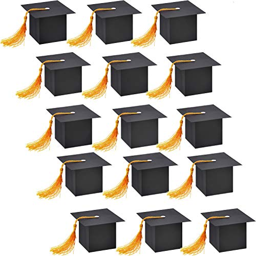 Hestya 32 Pieces Graduation Cap Shaped Gift Box Candy Sugar Chocolate Box for Graduation Party Favor