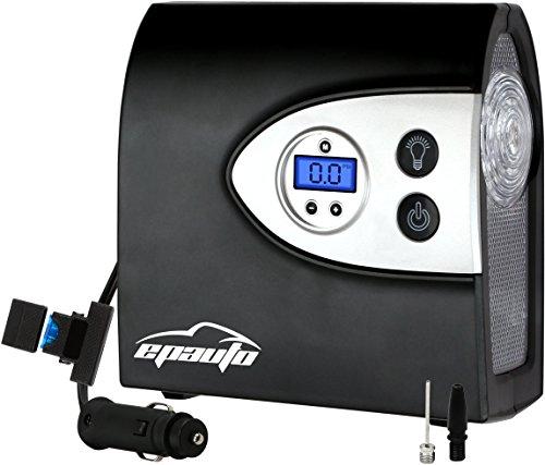 EPAuto 12V DC Auto Portable Air Compressor Pump w/ Digital Tire Inflator and Preset Pressure Shut Off Gauge for Compact / Midsize Sedan SUV