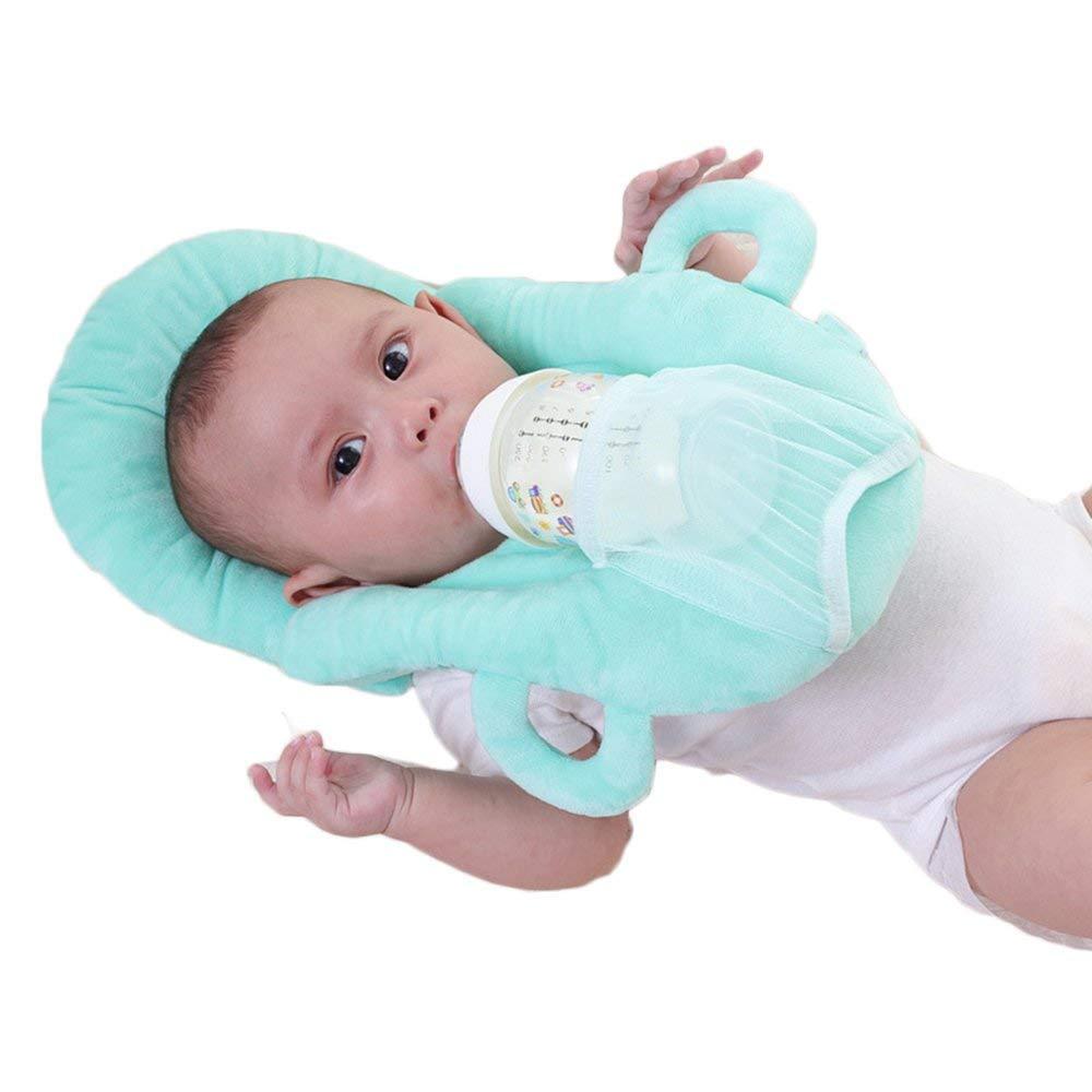 DIVISTAR Almohada de alimentación Desmontable portátil para bebé recién Nacido (Azul)