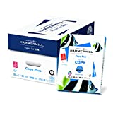 Hammermill Paper, Copy Plus, 20lb, 8.5 x 11, 3 Hole Punch, 92 Bright, 5000 Sheets / 10 Ream Case (105031C), Made In The USA