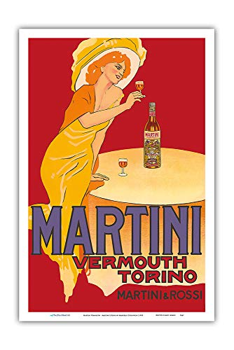 Martini Vermouth - Martini & Rossi - Turin (Torino), Italy - Vintage Advertising Poster by Marcello Dudovich c.1910 - Master Art Print 12in x 18in ()