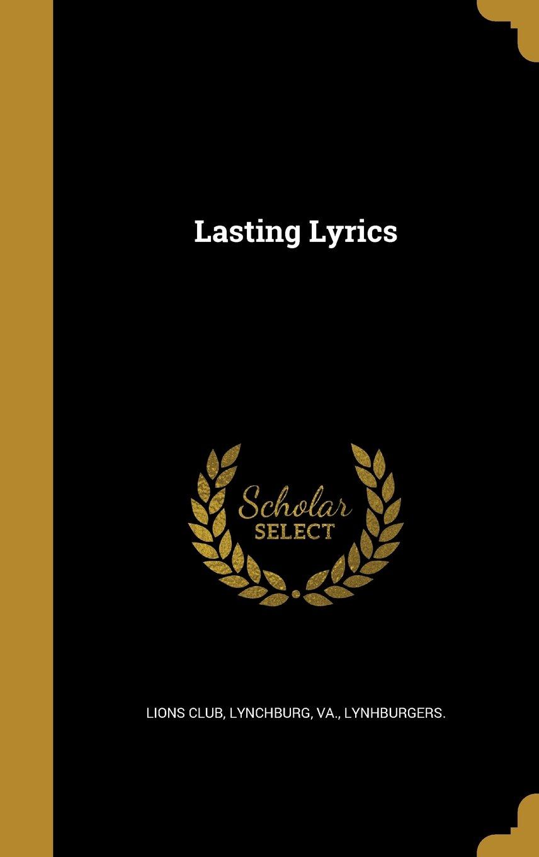 Lasting Lyrics pdf