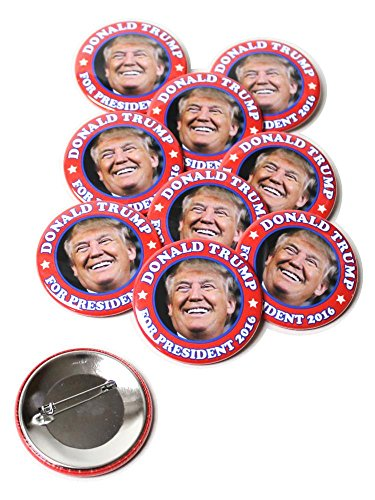 Donald-Trump-For-President-2016-Pinback-Buttons-225-Inch-Round-10-Pack