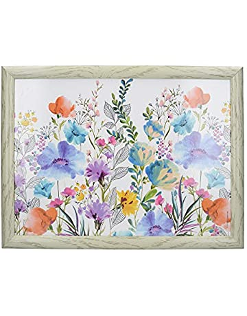 e7127681e054 Creative Tops Cushioned Lap Tray / Lap Tray with Cushion and 'Meadow  Floral' Design