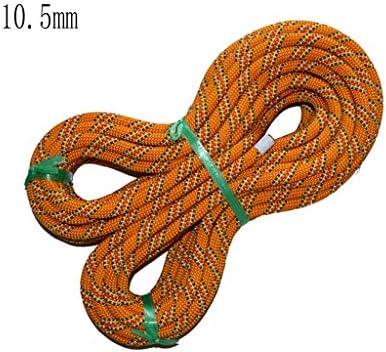 ZHWNGXO Outdoor-Kletterseil, Practical Seil orange 10.5mm Nylonseil Starke Elastizität Verschleißfeste weiche Schlagkraft 8.9KN (Size : 90m)