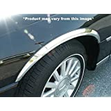 QAA WC43680 WHEEL WELL FENDER TRIM (4 piece kit: Wheel Well Fender Trim Molding - molded stainless steel, imported, Clip on or screw in, hardware included.) 2003-2011 LINCOLN TOWN CAR