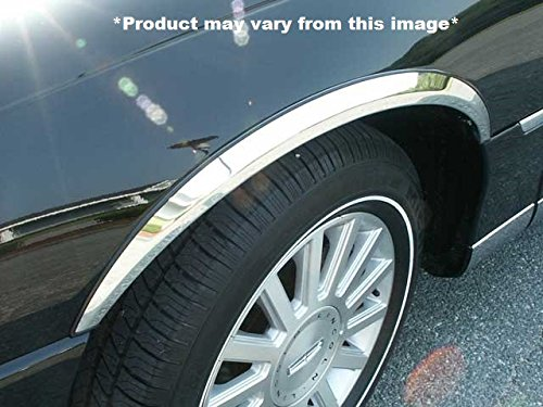 QAA WC43680 WHEEL WELL FENDER TRIM (4 piece kit: Wheel Well Fender Trim Molding - molded stainless steel, imported, Clip on or screw in, hardware included.) 2003-2011 LINCOLN TOWN CAR Lincoln Town Car Rubber