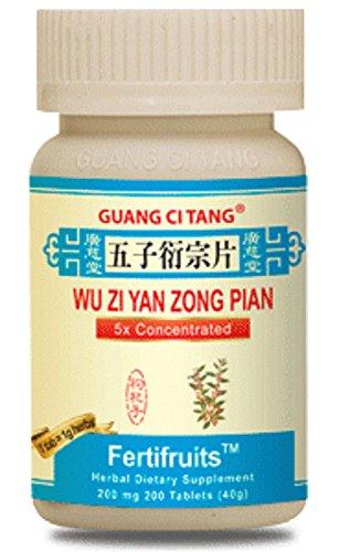 3 Bouteilles de Wu Zi Yan Zong Pian FertiFruits Plus - fertility Blend pour les Hommes - la Planification de la Famille - 200 Pilules dans chaque Bouteille