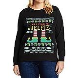 132962cfe13 baskuwish Ladies Christmas Plus Size Merry Plus Size Christmas Elk Baseball  Print T-Shirt Tops