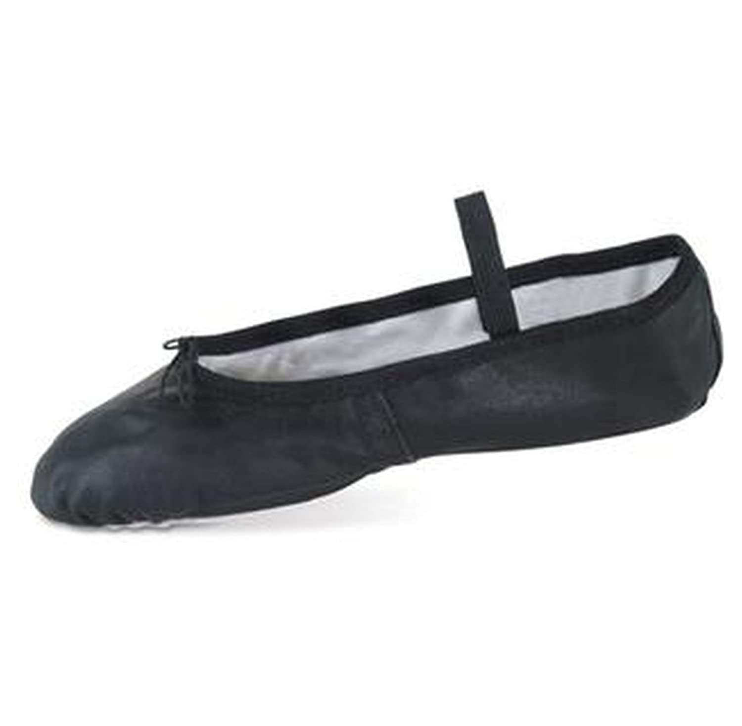 Deluxe Leather Ballet Shoe (Black Leather)