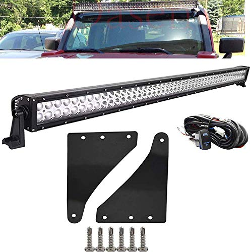 DaSen For Hummer H3 2006-2010 50 Inch 288W Off-road Straight LED Light Bar w/Upper Roof Windshield Mounting Bracket & Wiring - Roof Hummer