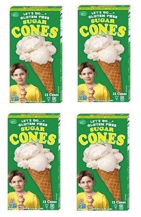 ards and Sons] Gluten Free Sugar Ice Cream Cones Are the Top Selling Gluten Free Ice Cream Cone [4 Pack] (Gluten Free Organic Ice Cream)