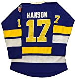 62a77f2de Kooy Steve Hanson  17 Blue Brothers Charlestown Jersey Slap Shot Movie  Hockey Charleston (2XL