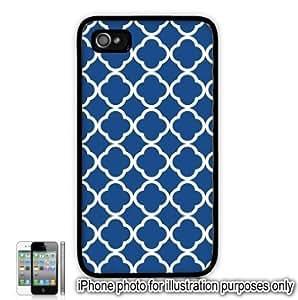 Blue Quatrefoil Symbol Pattern Apple iPhone 4 4S Case Cover Skin Black by ruishername
