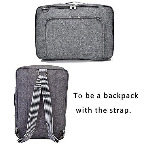 RomWell Travel Duffel Bag Waterproof Fashion Lightweight Large Capacity Portable Luggage Bag (Black)