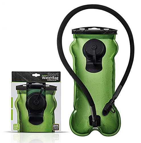 XWXS Hydration Bladder 100 Oz/3-litres, Military Class Quality Water Reservoir, Wide-opening, Tastefree for Hiking, Bike Trip, Climbing, Hydro Backpack, Outdoor Event by XWXS