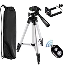 "Tripod - Peyou® 40"" Lightweight Aluminum Camera Tripod + Universal Smartphone Holder Mount + Bluetooth Wireless Remote Camera Shutter for iPhone 7/7Plus 6S Plus/6 Plus 6S/6 SE/5S/5/5C, Samsung Galaxy S7/S7 Edge S6 Edge/S6 S5"