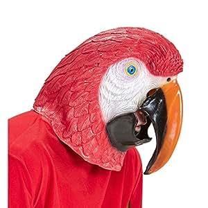 Amakando Careta Loro Máscara papagayo Antifaz Ave Accesorio Disfraz Adulto Mascarilla ara Careta Carnaval pájaro