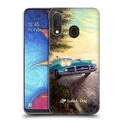 Official Lonely Dog Feline Fender Bender Right Life Hard Back Case Compatible for Samsung Galaxy A20e (2019)