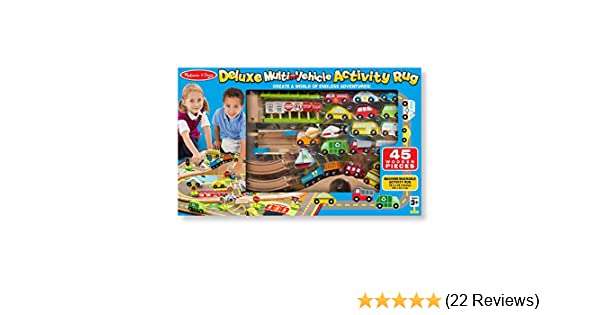 Melissa Doug Deluxe Multi Vehicle Activity Rug Great Gift For Girls And Boys Best For 3 4 5 Year Olds And Up