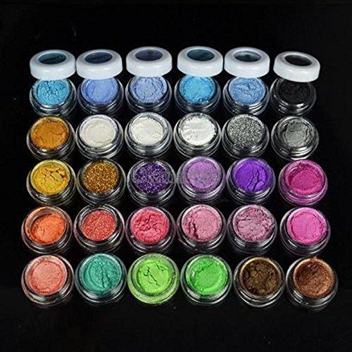 30 Couleurs Fard à Paupières Eyeshadow Poudre Glitter Paillette Ombre Yeux Beauty Makeup Shimmer Eyeshadow