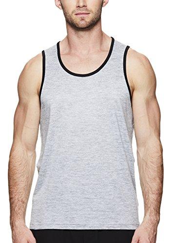 Gaiam Men's Everyday Basic Muscle Tank Top - Sleeveless Yoga & Workout Shirt - Sleet Heather Everyday, -