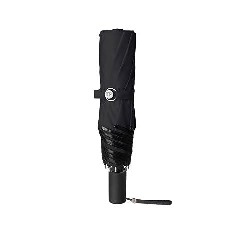 Paraguas plegablesProfesional De Protector Solar Exterior Cortavientos Sunumbrella Paraguas Plegable,Ya Negro