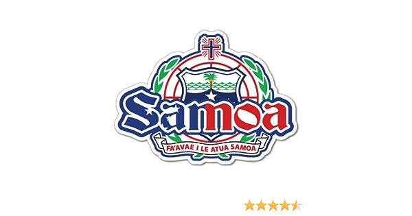 "Samoa Faleolo Passport Travel Retro Car Bumper Sticker Decal 5/"" x 4/"""