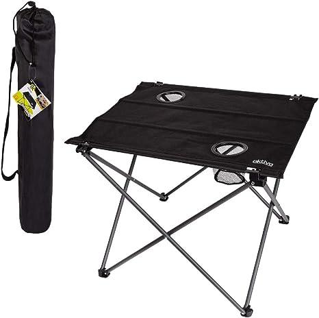 Aktive 52843 - Mesa plegable te x til para camping 61 x 53 x 51 cm Camping