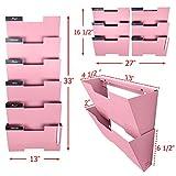 Pink Wall Mount Hanging File Holder Organizer 6