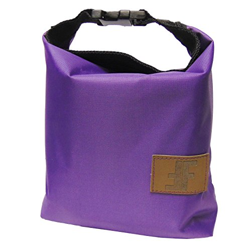 Lunch Tote By Fit Life Fit Food Reusable Insulated Fashion Bag with Zipper and Buckled Handle (Purple)