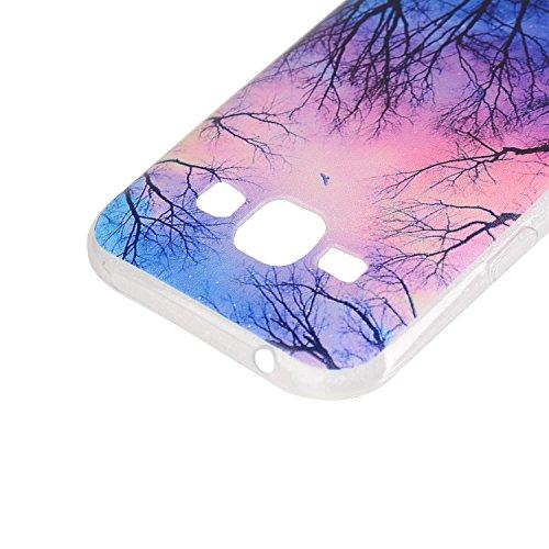 TPU für Samsung Galaxy J5 2015 Version (5 Zoll (12,7 cm) Hülle- Ultra Slim TPU Silikon Transparent , Schutzhülle Muster Stoßdämpfend Transparent Spiegel Schutz Handy Hülle Tasche Etui Bumper Smartphon 2