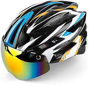 INBIKE Ciclismo Casco Bicicleta Casco con Ciclismo Gafas ...
