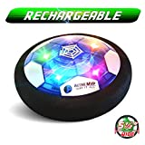 ActiveMVP Toddlers Kids Toys Mini Hover Soccer Ball Rechargeable 5½' Wide - Indoor LED Light Air Power Disc Fun Game...