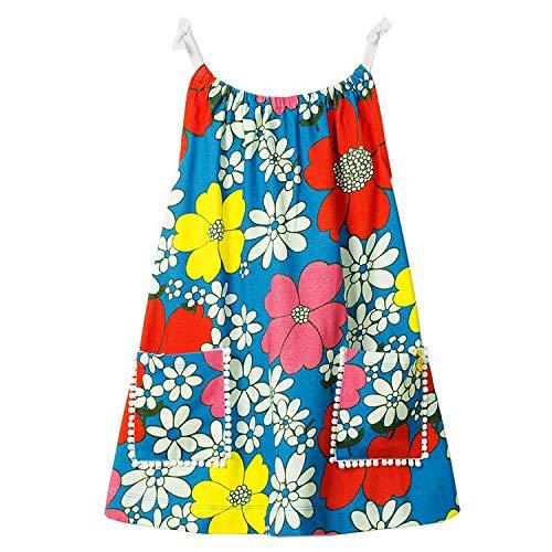 Balalei Girl Dress 2019 Summer Baby Girl Clothes Kids Dresses Costume Striped Animal Pattern Princess Dress,98,2T ()