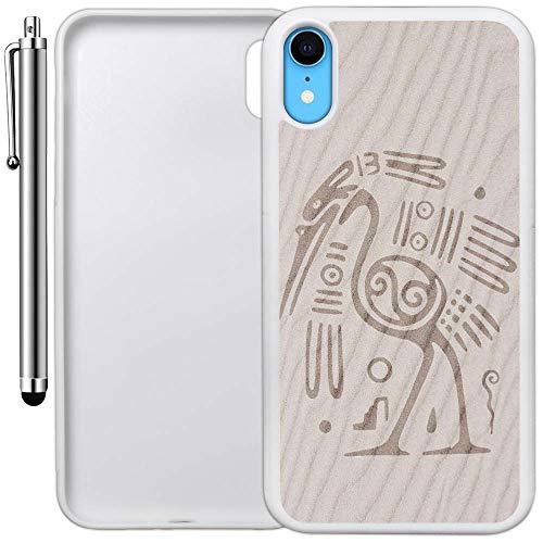 innosub Carcasa Personalizada Compatible con iPhone XR (diseño Azteca de pájaros Arena), Borde a Borde, Carcasa de Goma...