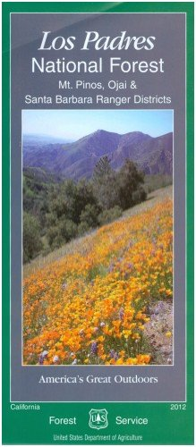 Los Padres National Forest Map - Map: Los Padres National Forest Mt. Pinos (South)