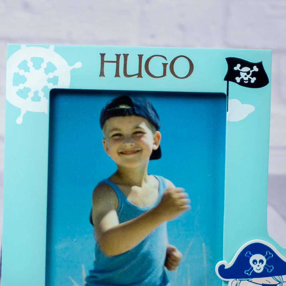 calledelregalo Regalo Personalizado para ni/ños Marco de Fotos Infantil /'Pirata/' Grabado con su Nombre