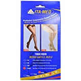 ITA-MED Open Toe Thigh Highs, Compression Stockings (25-35 mmHg): H-306(O) X-Large