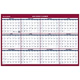 Office Products : AT A GLANCE Erasable Vertical/Horizontal Wall Planner, 24 x 36, Blue/Red, 2018 (PM2628)