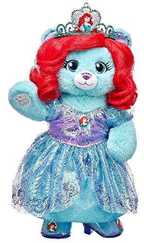 Build a Bear Disney Princess Ariel Inspired Teddy Limited Edition COA 16in. Stuffed Plush Toy Animal