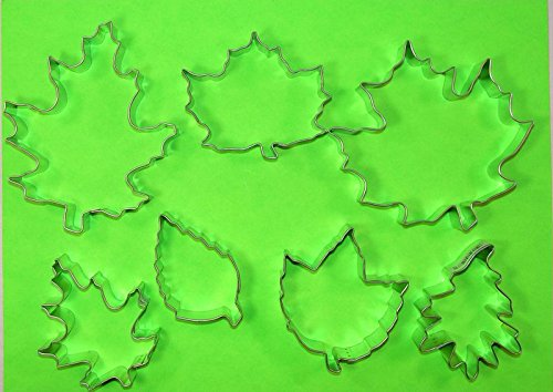 Fall Leaf Cookie Cutter (Fall Leaves - 7 Piece Autumn Leaf Cookie Cutter Set - Maple Elm Oak Aspen)