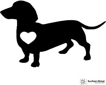 Dachshund Dog Wall Sticker Vinyl Decal Car Puppy Black Weiner Home Window Design