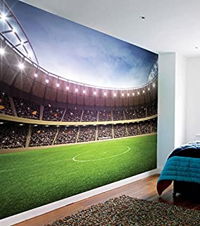 Nice 1Wall Football Stadium Featured Wallpaper Mural, Wood, Green, 3.15 X 2.32 M Part 7