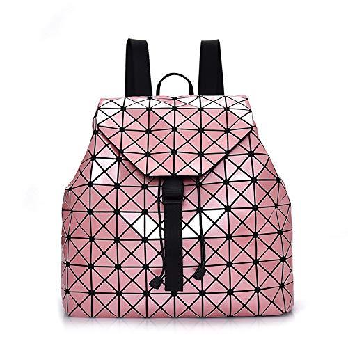 Zaino Da Viaggio Di Lingge Zaino Moda Geometrica Con Paillettes Borsa Da Viaggio Pink