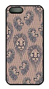 iPhone 4 4S Case, iCustomonline Lions Head Protective Back Case Cover Skin for iPhone 4 4S - Black