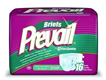 Prevail Specialty Briefs Small/Pack of 16 by First Quality