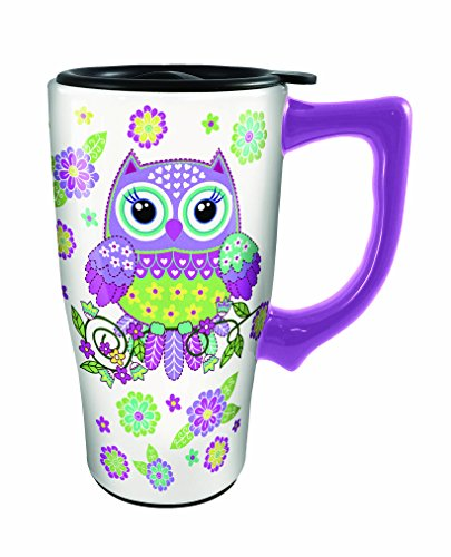 Spoontiques Owl Travel Mug, Multicolor